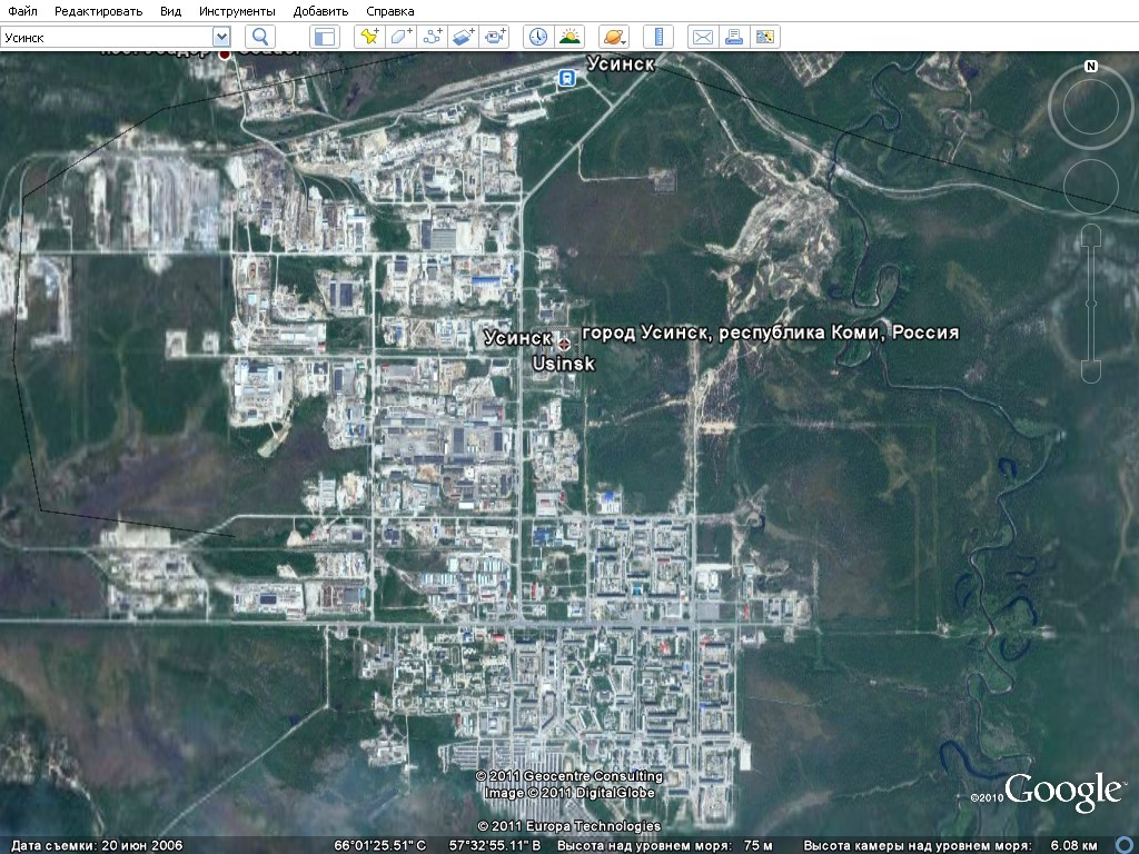 Страна-Ю-Я 2. Города вид из космоса. Программа Гугл ...